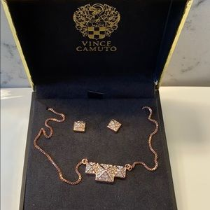 ✨NWT Vince Camuto Pave Necklace and Earrings